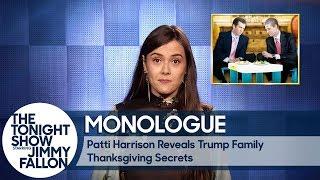Download Youtube: Patti Harrison Reveals Trump Family Thanksgiving Secrets - Monologue