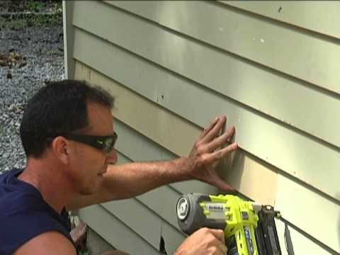 Replacing your rotten wood siding!