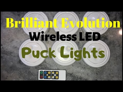Brilliant Evolution Wireless LED Puck Lights Review and Installation