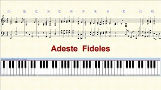 Piano Tutorial Sheet - Adeste Fideles - HD