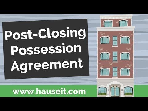 Buyer possession before closing agreement 2008-2019 form