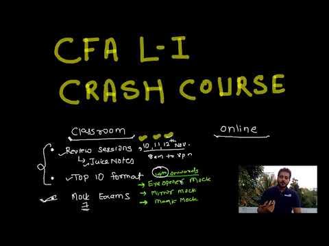CFA Level I - Crash Course - YouTube