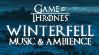 Game of Thrones Music & Ambience | Winterfell Snowfall at Dusk