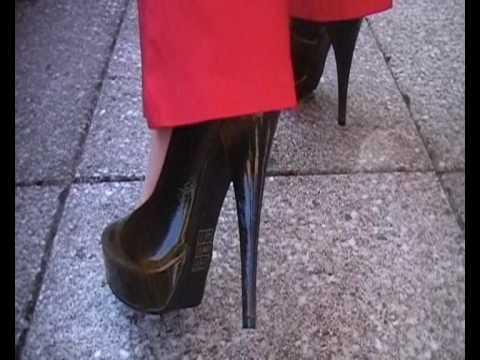 Bronze High Heels Pumps 140 mm