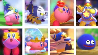 All Copy Abilities & All Characters in Kirby Fighters 2 Gameplay Trailer HD (+ New Friends)