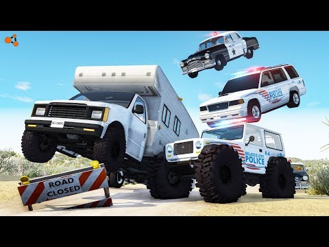 Beamng Drive - Police Off-Road Chases Crashes