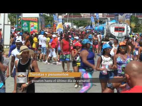 Turistas y panameños gozaron hasta el último día de carnaval