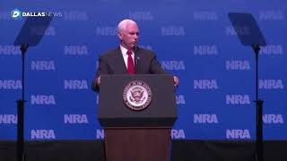 Vice President Mike Pence comments at NRA Convention in Dallas - Video Youtube