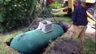Burying a 500 gallon LP tank.