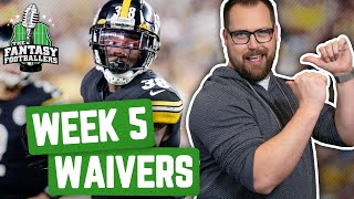 Fantasy Football 2019 - Week 5 Waivers + Full Stream Ahead, Tilting PSA - Ep. #786
