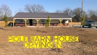 TIMELAPES - How To Build A Pole Barn House For Cheap