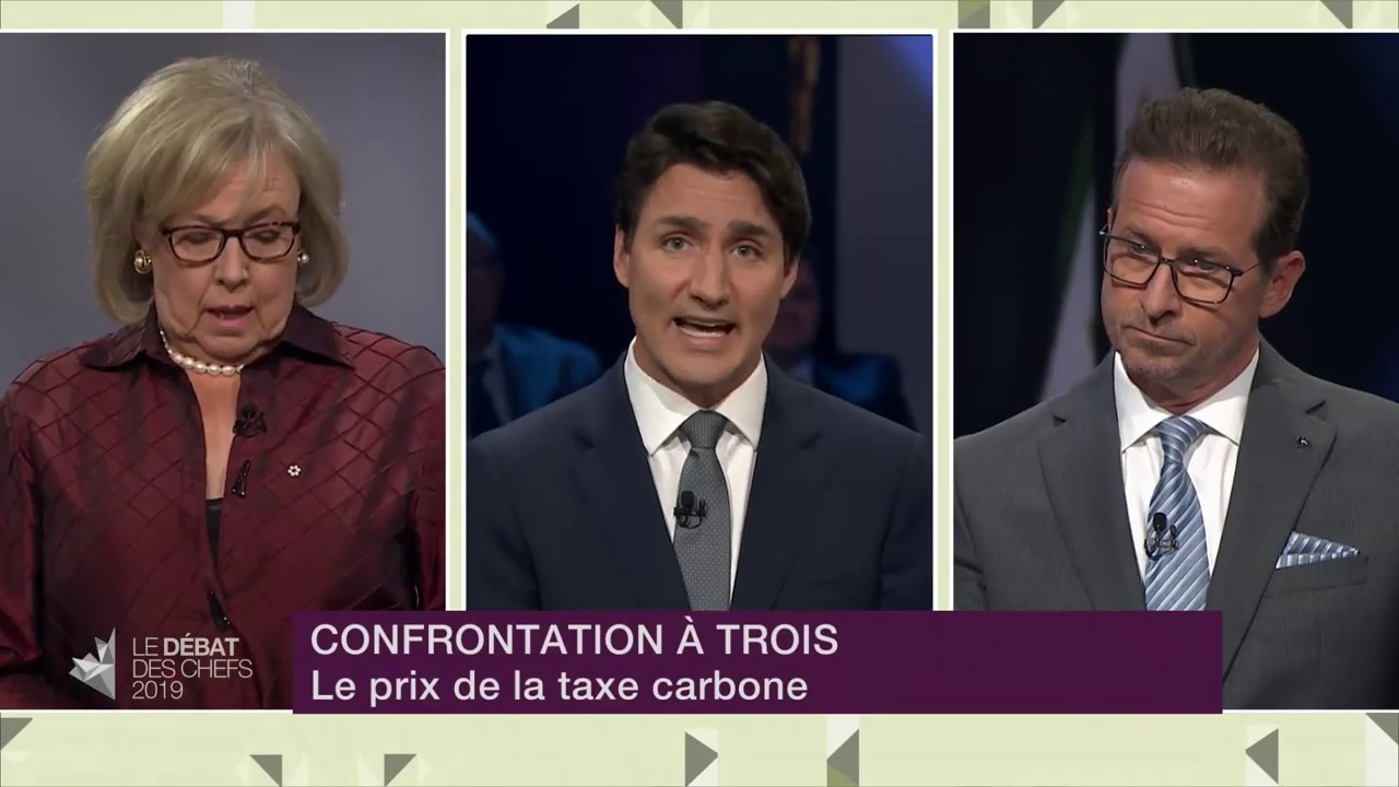 Justin Trudeau, Yves-François Blanchet and Elizabeth May debate environment and energy