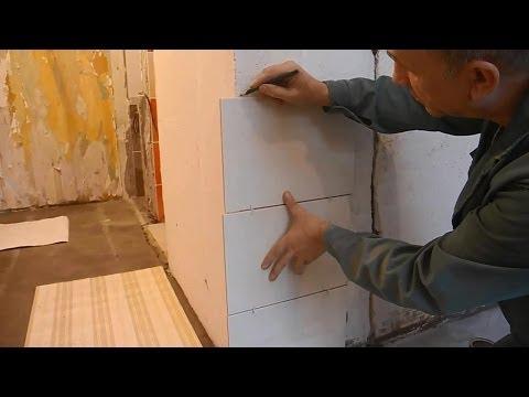 Облицовка плиткой стен на кухне ч.1