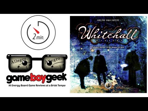 The Game Boy Geek's (Allegro 2-min) Review of Whitehall Mystery