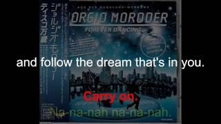 """Donna Summer - Carry On (Original German 7"""" Single) LYRICS - SHM """"Carry On"""" 1992"""