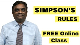 Simpson's Rules | Capt. Anand