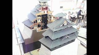 安土城郭資料館。自動で中が見える