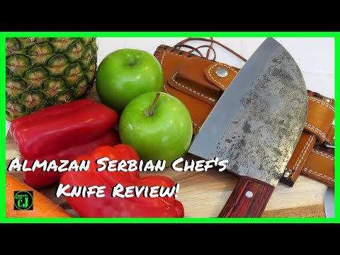 ALMAZAN  SERBIAN CHEF KNIFE | ALMAZAN KNIFE REVIEW | ALMAZAN CUTLERY | MEATHEADKNIVES.COM (2018)