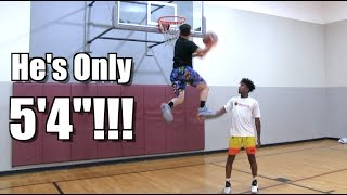 """5'4"""" Dunker Andrew McFly Can WINDMILL!! + Tyler Currie/ Elijah Bonds"""
