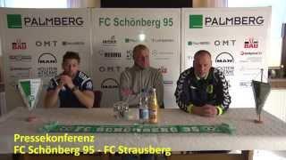 preview picture of video 'Pressekonferenz FC Schönberg 95 - FC Strausberg'
