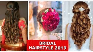 Bridal Hairstyles Ideas | Wedding And Reception Hairstyles 2019 | Simple And Easy Indian Hairdo