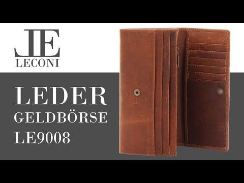 LECONI Leder Geldbörse für Damen LE9008