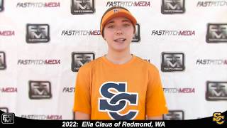 2022 Ella Claus Power Hitting Lefty Outfielder and First Base Softball Skills Video - Ca Suncats