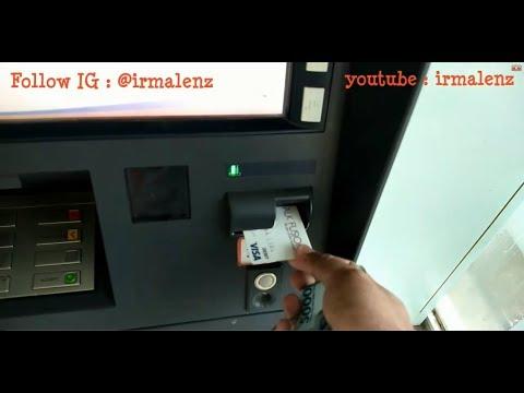 Cara Mengeluarkan Uang Dari Mesin ATM BRI Dengan Kartu VISA Talkfusion II YT Irmalenz