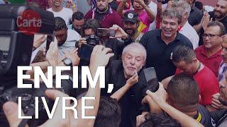 """Livre, Lula volta aos braços do povo: """"Não podemos permitir que os milicianos acabem com o Brasil"""""""
