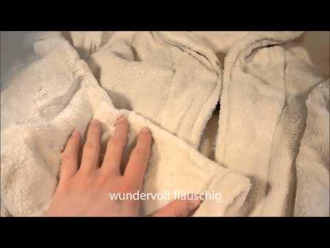 Kuschelweicher Bademantel in creme - ein Flauscherlebnis