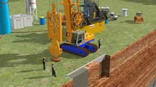 DAM CUTOFF WALL - SEEPAGE BARRIER CONSTRUCTION - PLASTIC DIAPHRAGM WALL