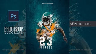 Adobe Photoshop Tutorial L Sports Poster Design L Easy Tips