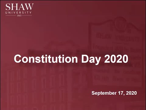 Shaw University Constitution Day 2020