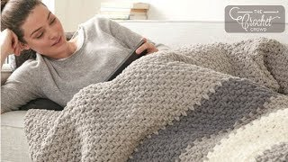 Crochet Moss Stitch - Blanket
