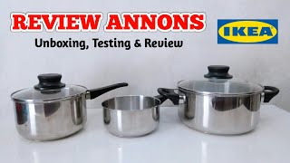 IKEA ANNONS Cookware Stainless Steel ( Review & Testing ) | Panci stainless murah tapi bagus