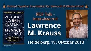 Lawrence Krauss speaks with RDF Germany