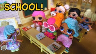 BARBIE Helps LOL SURPRISE DOLLS Get Ready For Their First Day Of School!