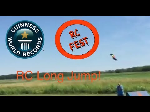 Guinness World Record RC Long Jump Attempt! 187.7 Foot Long RC Car Jump!