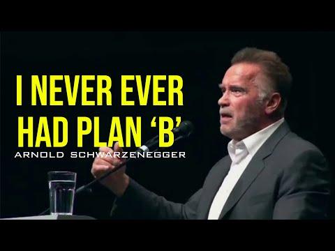 Arnold Schwarzenegger glo nie aan 'n Plan B nie