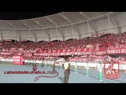 """""""VIDEO CANTO HOY EH VUELTO ESCARLATA AGUANTE BARON ROJO SUR"""" Barra: Baron Rojo Sur • Club: América de Cáli"""