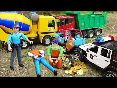 Police Cars Jeep Truck with Bruder Toys Vehicles for Kids