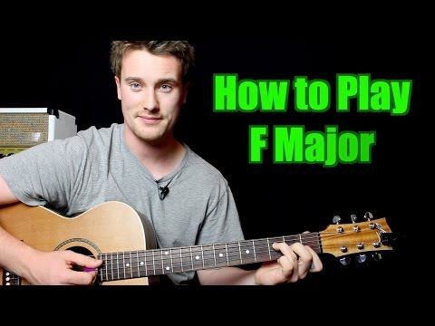 How to Play - F Major (Chord, Guitar)