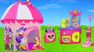 Minnie Mouse Unboxing: Play Tent, Bow Tique, Kitchen, Refrigerator, Toy Vehicles & Dolls for Kids