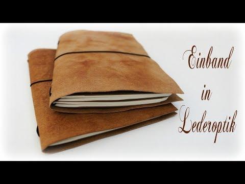 Notizheft in Lederoptik * DIY * Leather Look Cover [eng sub]