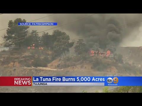 Crews Still Battling Massive La Tuna Fire