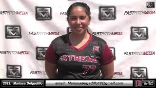 2022 Marissa Delgadillo Catcher and Third Base Softball Skills Video - Extreme Fastpitch