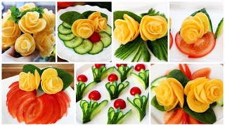 Super Salad Decoration Ideas - Vegetable Flower Plate Decoration