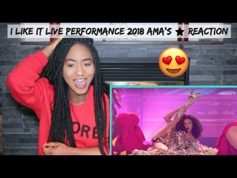 Cardi B, Bad Bunny & J Balvin - I Like It [2018 American Music Awards] | REACTION