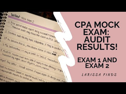 CPA Mock Exam Results   Audit Mock Exams 1 and 2   Becker CPA ...