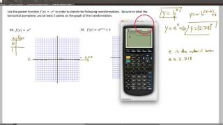 HPC, Worksheet 3.1.5, Quick Sketches Of Natural Exponential Function